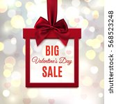 big  valentines day sale. red ... | Shutterstock . vector #568523248