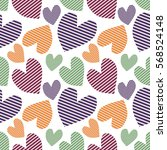 seamless vector pattern with... | Shutterstock .eps vector #568524148