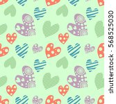 seamless vector pattern with... | Shutterstock .eps vector #568525030