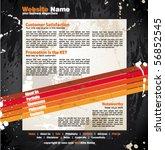 modern artistic webdesign... | Shutterstock .eps vector #56852545