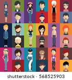 people avatar   with full body... | Shutterstock .eps vector #568525903