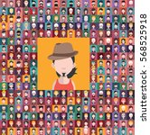 set of large avatar collection  | Shutterstock .eps vector #568525918