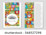 abstract vector layout... | Shutterstock .eps vector #568527298