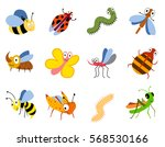 funny insects  cute cartoon... | Shutterstock .eps vector #568530166