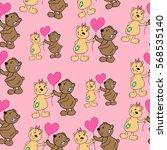 pattern of bear. | Shutterstock .eps vector #568535140