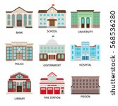 government building colored... | Shutterstock .eps vector #568536280