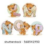 set vector letters of the... | Shutterstock .eps vector #568541950