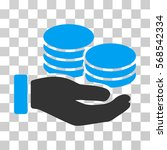 salary hand icon. vector... | Shutterstock .eps vector #568542334