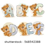set vector letters of the... | Shutterstock .eps vector #568542388