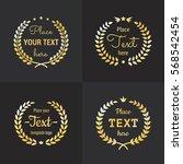 wreath gold logo vintage vector ...   Shutterstock .eps vector #568542454