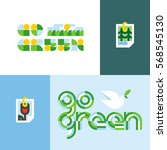ecological concept with go... | Shutterstock .eps vector #568545130