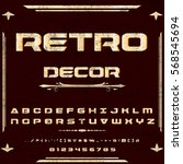 script  font typeface set retro ... | Shutterstock .eps vector #568545694