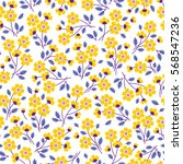 cute floral pattern in the... | Shutterstock .eps vector #568547236