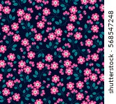 cute floral pattern in the... | Shutterstock .eps vector #568547248