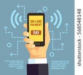 online payment transfer  mobile ...   Shutterstock .eps vector #568548148