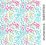 cute seamless pattern in small... | Shutterstock .eps vector #568549564