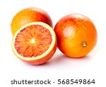 Sicilian Blood Oranges On Whit...