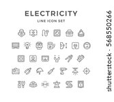 set line icons of electricity | Shutterstock .eps vector #568550266