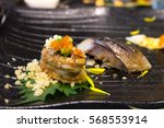 sushi salmon grill | Shutterstock . vector #568553914