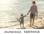 mother and little daughter...   Shutterstock . vector #568554418