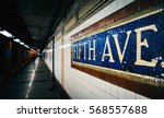 mosaic sign at the fifth avenue ... | Shutterstock . vector #568557688