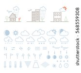 mega pack of weather icons with ...   Shutterstock .eps vector #568559308