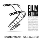 film strip vector illustration... | Shutterstock .eps vector #568563310