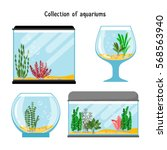 aquarium forms vector... | Shutterstock .eps vector #568563940