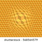 3d Abstract Pattern In Bright...