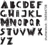 grunge alphabet | Shutterstock .eps vector #568564738