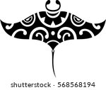 maori style manta isolated on... | Shutterstock .eps vector #568568194