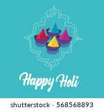 happy holi   Shutterstock .eps vector #568568893