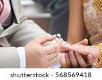 married  lovely  wearing a... | Shutterstock . vector #568569418
