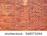 Red Brick Wall Background...