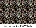 wallpaper baroque  damask.... | Shutterstock . vector #568571464