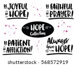 hope bible scripture phrases... | Shutterstock .eps vector #568572919