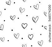 vector seamless retro pattern ... | Shutterstock .eps vector #568574200