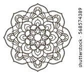 mandala. ethnic decorative...   Shutterstock .eps vector #568574389