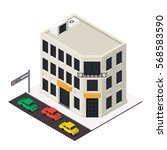 vector isometric building icon. ... | Shutterstock .eps vector #568583590