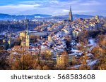 old town of bern  capital of... | Shutterstock . vector #568583608