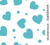seamless hearts and dots... | Shutterstock .eps vector #568584049