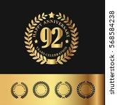 golden laurel wreath... | Shutterstock .eps vector #568584238