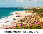 landscape of porto covo beach ... | Shutterstock . vector #568587973