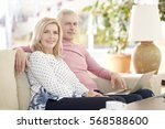 shot of a smiling senior couple ... | Shutterstock . vector #568588600