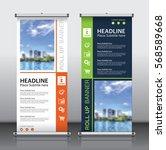 roll up brochure flyer banner... | Shutterstock .eps vector #568589668