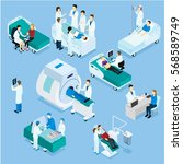 healthcare isometric set with... | Shutterstock .eps vector #568589749