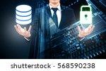 double exposure of professional ...   Shutterstock . vector #568590238