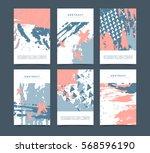 set of vertical creative... | Shutterstock .eps vector #568596190