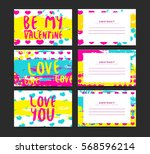 set of horizontal creative... | Shutterstock .eps vector #568596214