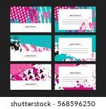 set of horizontal artistic... | Shutterstock .eps vector #568596250